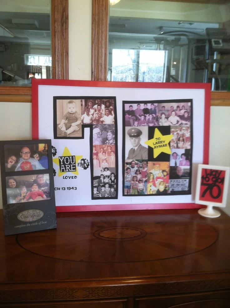 70th Birthday Photo Board.