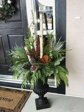 christmaChristmas Planters Design Ideas, Pictures, Remodel, and Decor - page 2