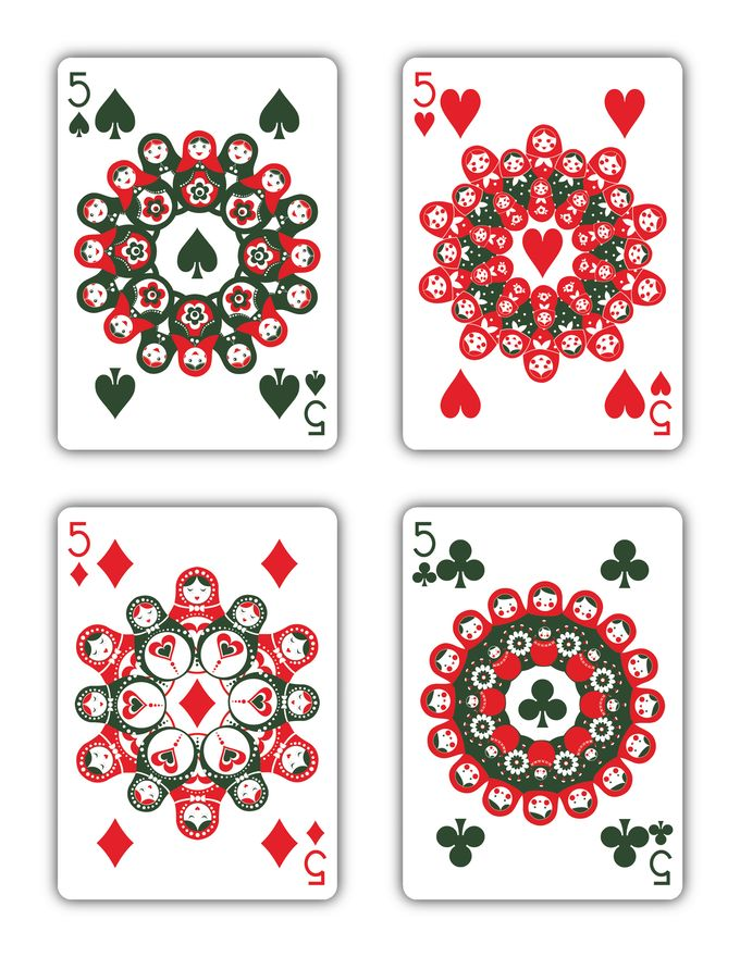 """""""Russian Folk Art"""" is a beautiful deck of playing cards inspired by Russian Folklore."""