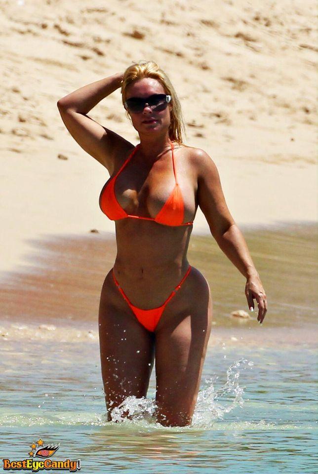 Nicole Coco Austin in an orange bikini!   Nicole Coco ...