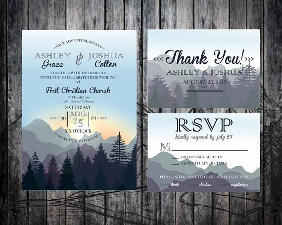 The listing contains DIGITAL, PRINT READY high-resolution files only for a wedding invitation package. Please note: This is not a template, so the cards are not editable by you. They will be customized with your own personal information by the seller. The design are ready to be print at