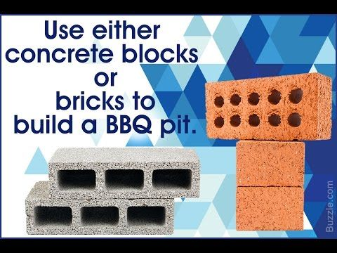 This video help you to build a barbecue pit in your backyard.