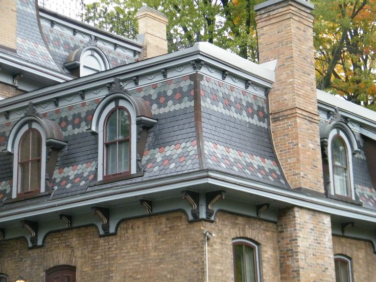 Love The Detail Mansard Pattern Slate Roof With North