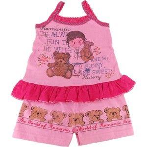 Pijama de Malha com Camisa de Alça e Shorts para Menina