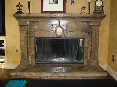 faux stone fireplace surround fireplace surrounds countertop solutions santee - Stone Fireplace Surround