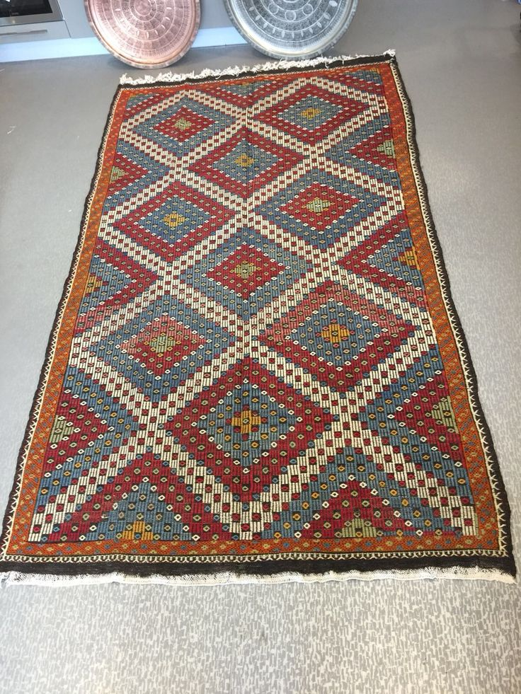 "LARGE TURKISH KILIM RUG, 312 x 180 cm ( 122 "" x 70 "" )"