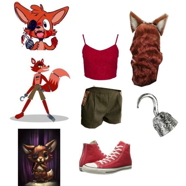 foxy from fnaf cosplay outfit (yep very close but it is worth it :))