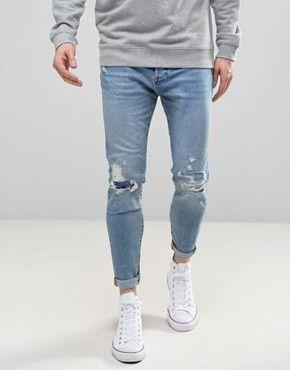 Bildergebnis für jeans mit löchern herren