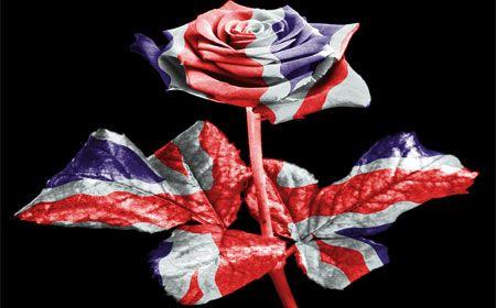 Incorporar alguno de los elementos de la bandera del Reino Unido en tus accesorios de Quinceañera.
