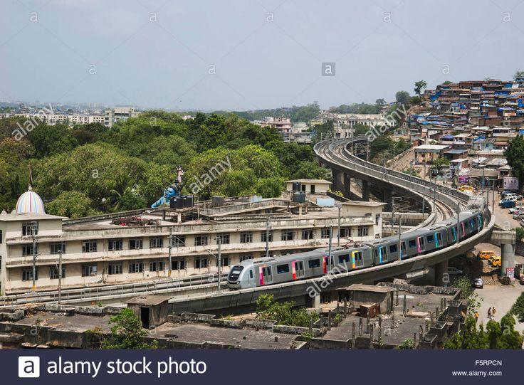 Mumbai metro ghatkopar to versova, mumbai, maharashtra, india, asia