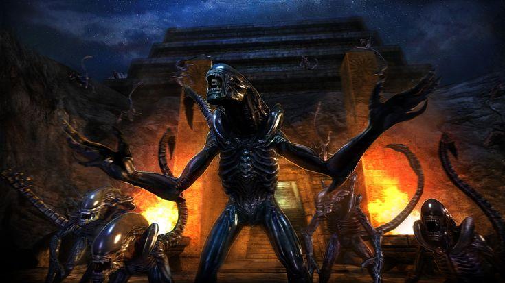 Alien vs. Predator concept art: Xenomorphs