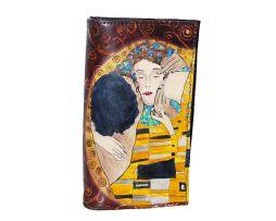Handmade, rucna malba, hand painted, leathergoods, www.luxusne-doplnky.eu, masterpiece, hand painted leather, gustav klimt, rucne malovana, rucne malovany, malba na kozu, umelecke dielo, kozena galanteria, kozene vyrobky, leather genuine