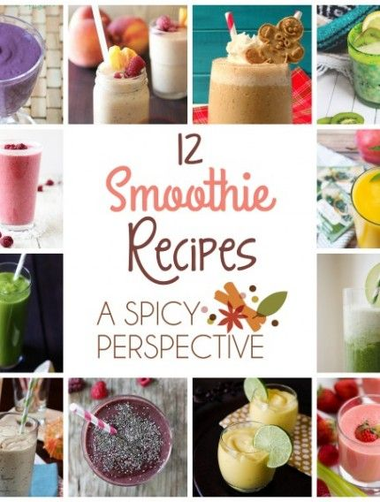 12 Amazing Smoothie Recipes #smoothies #healthy