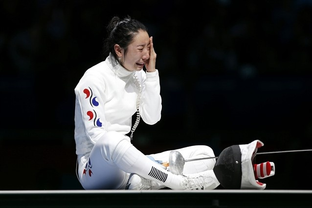 I couldn't even imagine how she feels being that close to gold and then an error due to a broken clock taking it away.