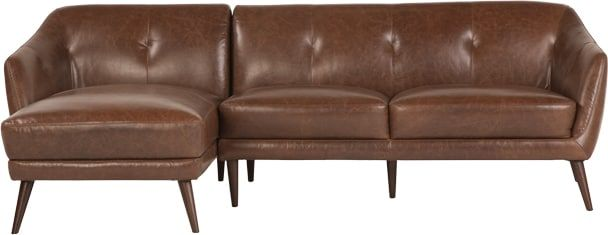Nevada Left Corner Sofa, Antique Cognac Leather from Made.com. Brown. Express delivery. Stop searching - the Nevada collection is it. This leather c..
