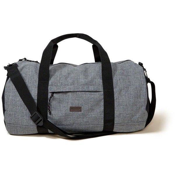 Hollister Printed Duffle Bag (3.265 RUB) ❤ liked on Polyvore featuring men's fashion, men's bags, grey and men's duffel bags
