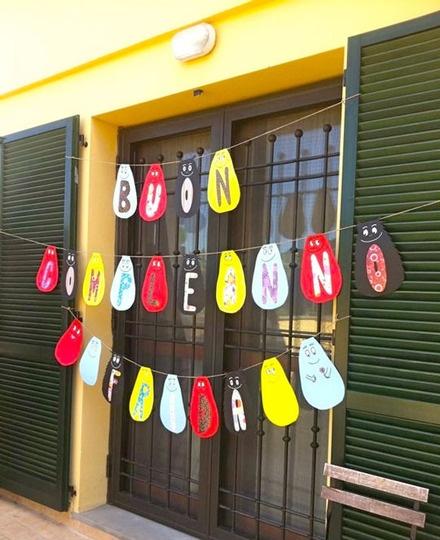 barbapapa party banner