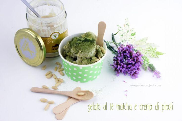 gelato al tè matcha e crema di pinoli