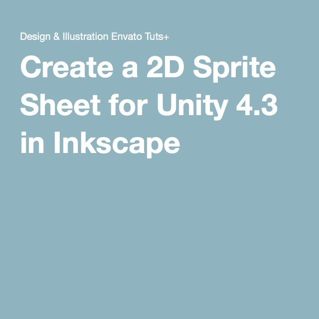 Create a 2D Sprite Sheet for Unity 4.3 in Inkscape