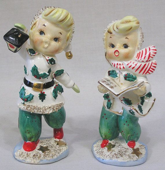 Vintage Ceramic Christmas Carolers Choir Boy And Girl: Vintage Lefton Images On Pinterest