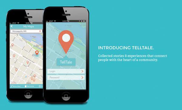 TellTale Storytelling App on App Design Served