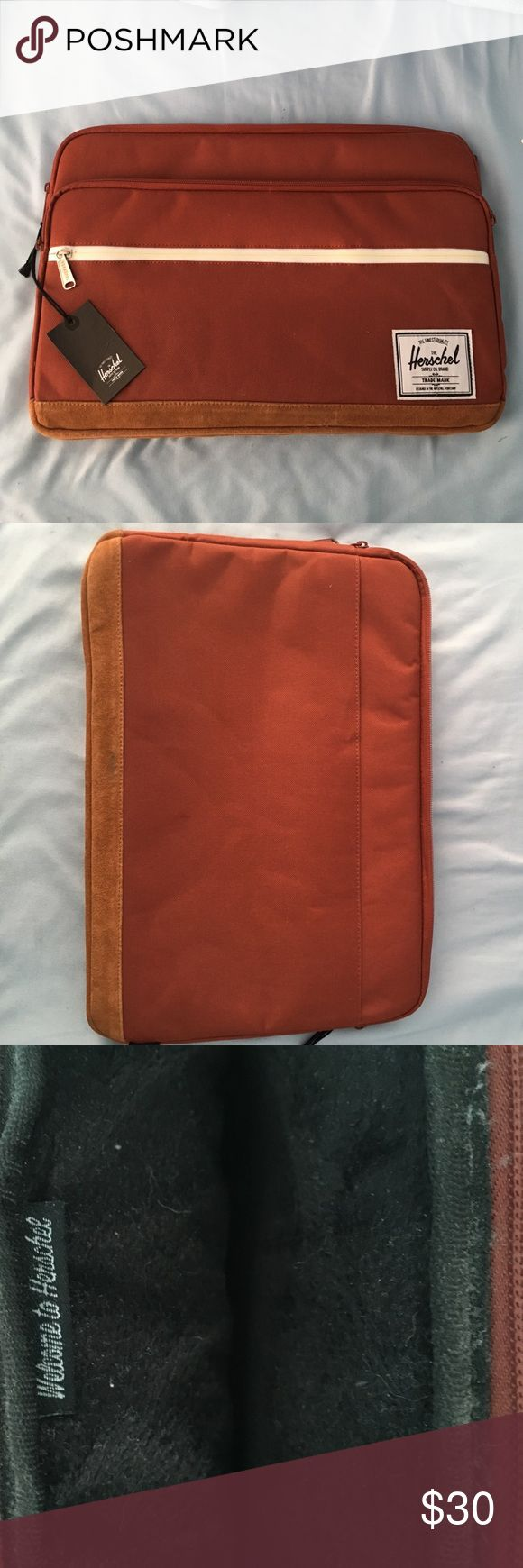15 inch Herschel Laptop Sleeve 15 inch laptop case never used, 3 zipper compartments Herschel Supply Company Accessories Laptop Cases