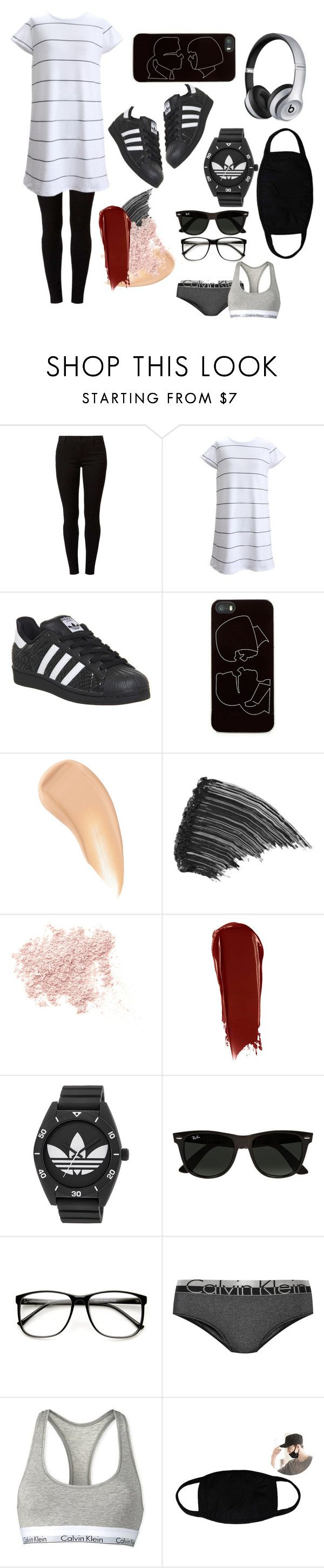 """jhs - jung hoseok style(gf)"" by wangass ❤ liked on Polyvore featuring beauty, Dorothy Perkins, adidas, Zero Gravity, Charlotte Tilbury, LashFood, Bare Escentuals, NARS Cosmetics, Ray-Ban and Calvin Klein Underwear"