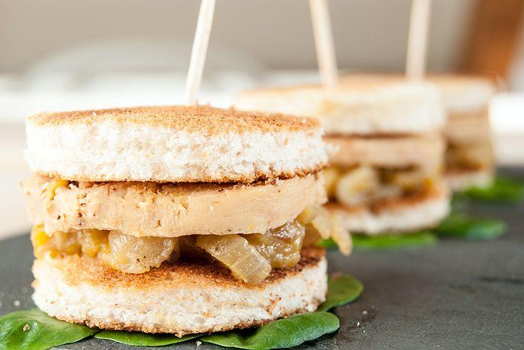 Toasts de foie gras et chutney de mangue // Mango chutney on foie gras toasts