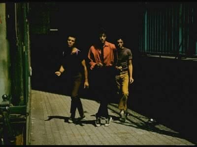 George Chakiris as Bernardo Leads Two Others Into Turf of Rival Gang in West Side Story Premium Photographic Print by Gjon Mili at Art.com