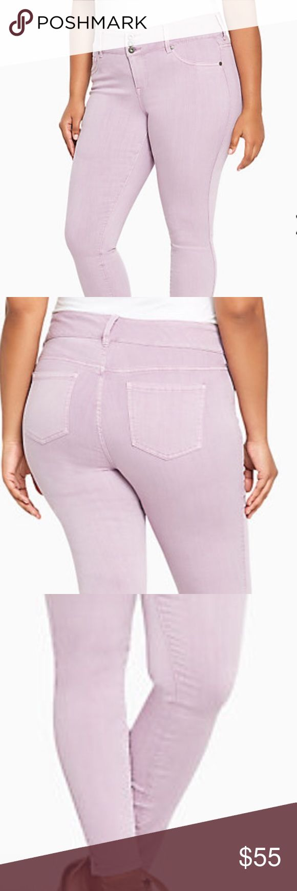 Lavender jeans! Love these lavender jeans. Such a beautiful color!! Jeggings from torrid. Size 18R. Still in the plastic, never worn. torrid Jeans Skinny