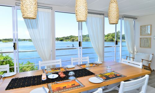 Wake up to a hearty breakfast on the deck of a Chobe Princess as the sun dawns on another exquisite day in the bush.