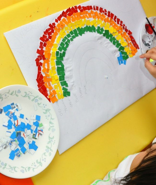 Simple Rainbow Craft for kids #rainbowcrafts #stpatricksdaycrafts