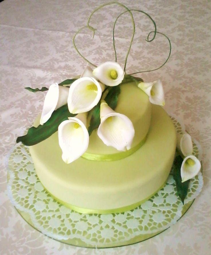 Calas - Zuckerblumen - Zuckergarten  Calla Lily Wedding Hochzeitstorte