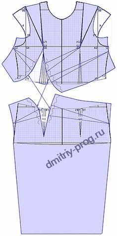 """Примеры моделей платьев (2) разработанных на основах рассчитанных в программе """"Закройщик"""""""