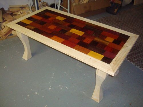 Patchwork Table #1: Exotic Wood Coffee Table   By Elwood89 @ LumberJocks.com