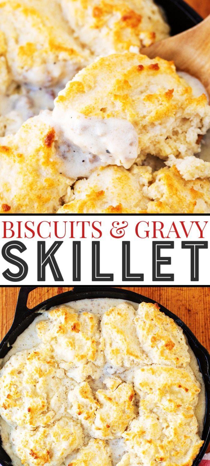 Easy Biscuits Gravy Skillet Recipe Sausage Gravy Biscuits Gravy Sausage Gravy Biscuits