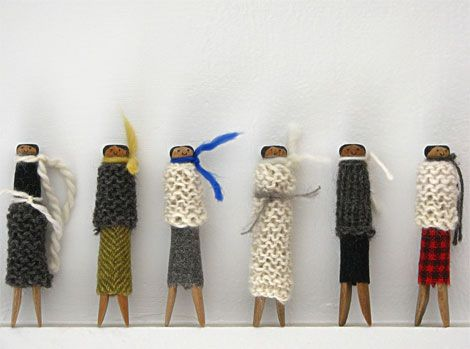 clothespeg dolls by Jill Bent