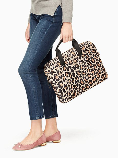 Kate Spade Leopard Laptop Commuter Bag