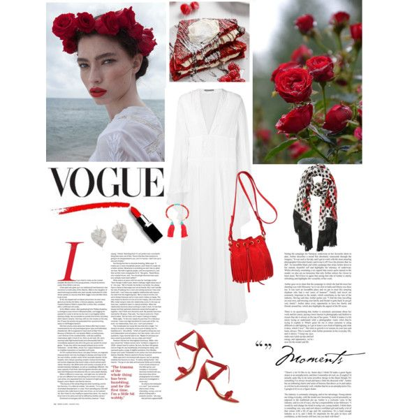 Red Passion by violavintage on Polyvore featuring polyvore fashion style Alberta Ferretti Alexandre Birman Yves Saint Laurent Aurélie Bidermann Dolce&Gabbana French Toast