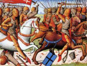 équitation moyen age.- Ce Constantin Asse peut, avec Jean l'Archevêque et Richard d'Angle, se trouver parmi les chevaliers français poitevins ayant combattu les chevaliers anglais au pont de Taillebourg en avril 1351. A t-il été fait prisonnier et conduit par les Anglais vainqueurs à Bordeaux avec su suzerain le sire de Parthenay ?