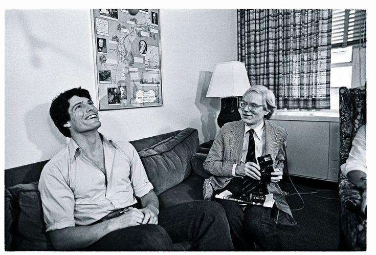 Warhol junto al actor Christopher Reeve