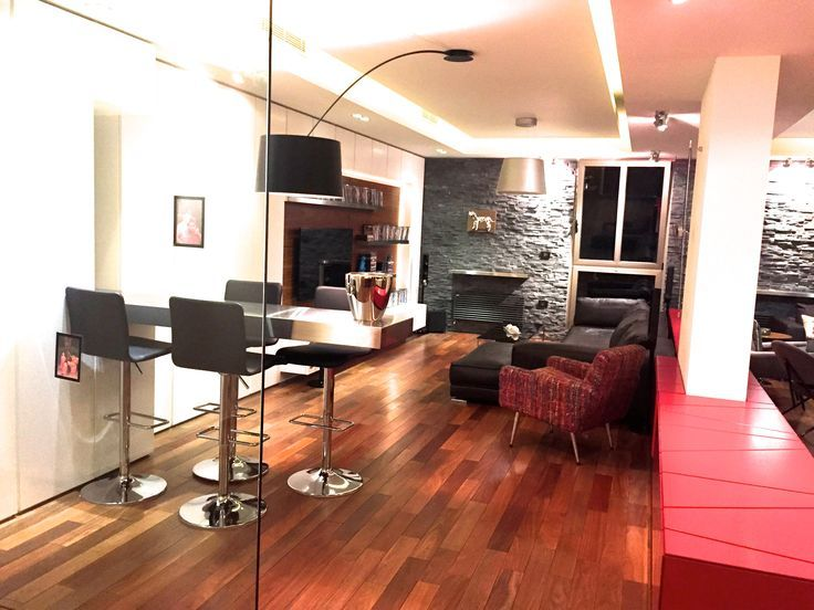 Modern TV Room with built in  BarDining set and custom made built. 17 Best ideas about Modern Tv Room on Pinterest   Modern tv wall
