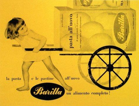 Advert for Barilla designed by Erberto Carboni