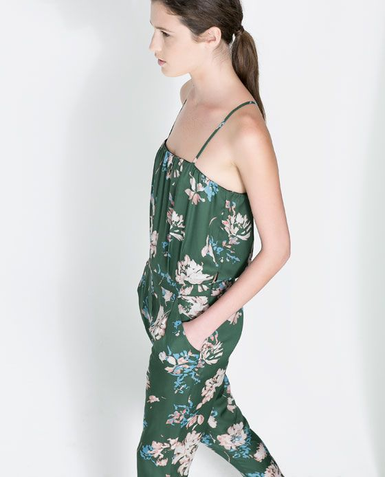 Image 3 of PRINTED FLOWING JUMPSUIT from Zara