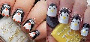 Easy-Cute-Penguin-Nail-Art-Designs-Ideas-2013-2014