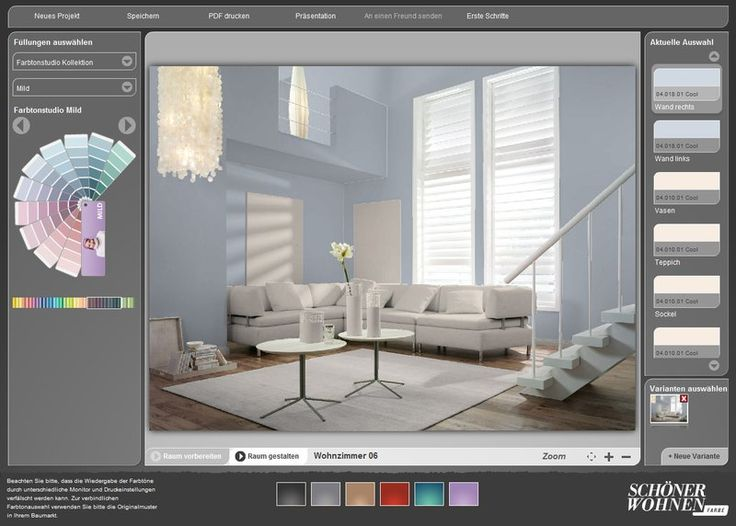 kostenloser interaktiver farbdesigner sch ner wohnen. Black Bedroom Furniture Sets. Home Design Ideas