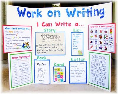 Writing Center Download! modify this to use instead of a bulletin boardCenter Ideas, Writing Stations, Daily 5 Writing, Ideas Boards, Gilchrist Class, Languages Art, Writing Centers, First Grade, Anchors Charts