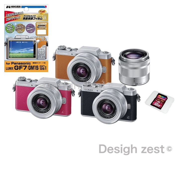 NIB LUMIX Panasonic Camera DMC-GF7W-S Mirror less Double zoom lens kit SDHC card #Panasonic