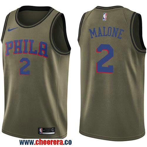 15e6a1cb905 uk mens nike philadelphia 76ers 2 moses malone green salute to service nba  swingman jersey dc75d