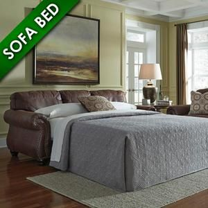 Breville Queen Sofa Sleeper in Espresso | Nebraska Furniture Mart